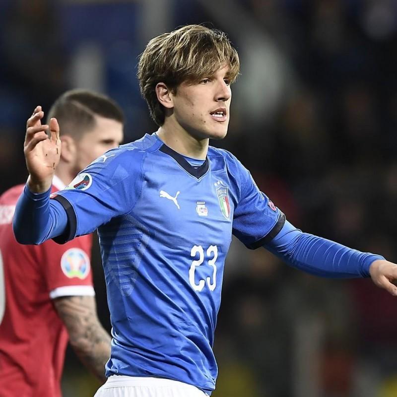 Zaniolo's Match Shirt, Italy-Liechtenstein 2019 + Undershirt