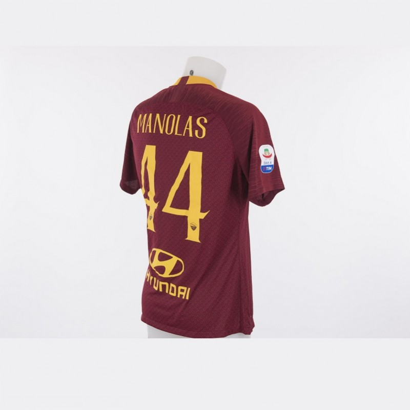 Manolas' Worn Roma-Atalanta 2018/19 Shirt