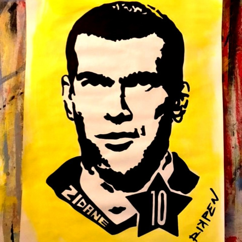 """Zidane"" Original Artwork by Riccardo Penati"