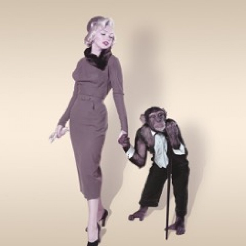 """Marilyn and a Chimp"" by John Florea"