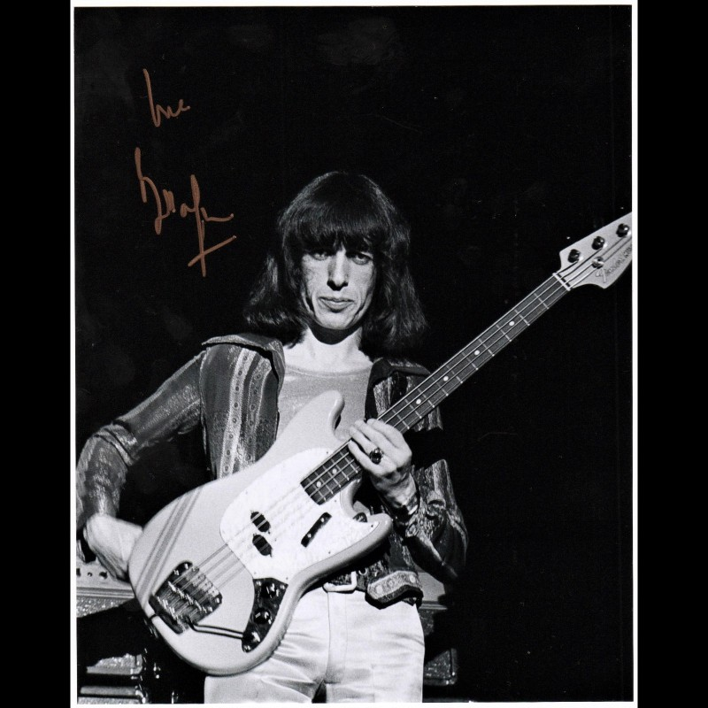 Rolling Stones Photograph Signed by Bill Wyman