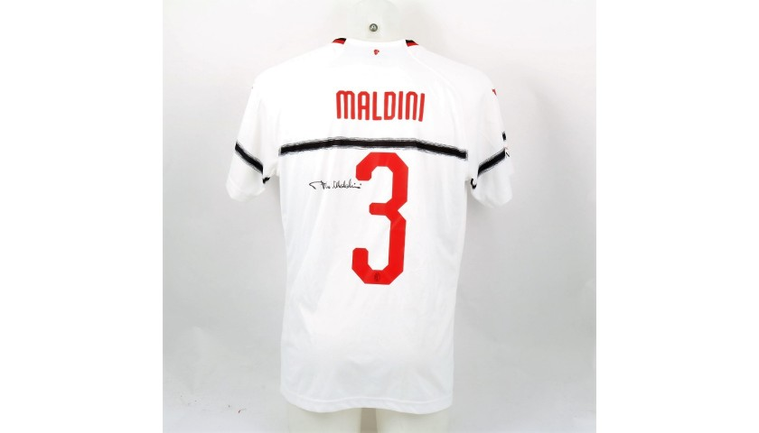 Maldini's Worn and Signed Shirt, Liverpool-AC Milan 2019