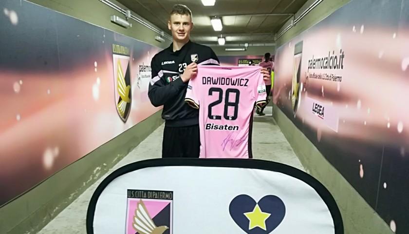 Dawidowicz's Signed Match-Worn Shirt, 2018 Palermo-Frosinone