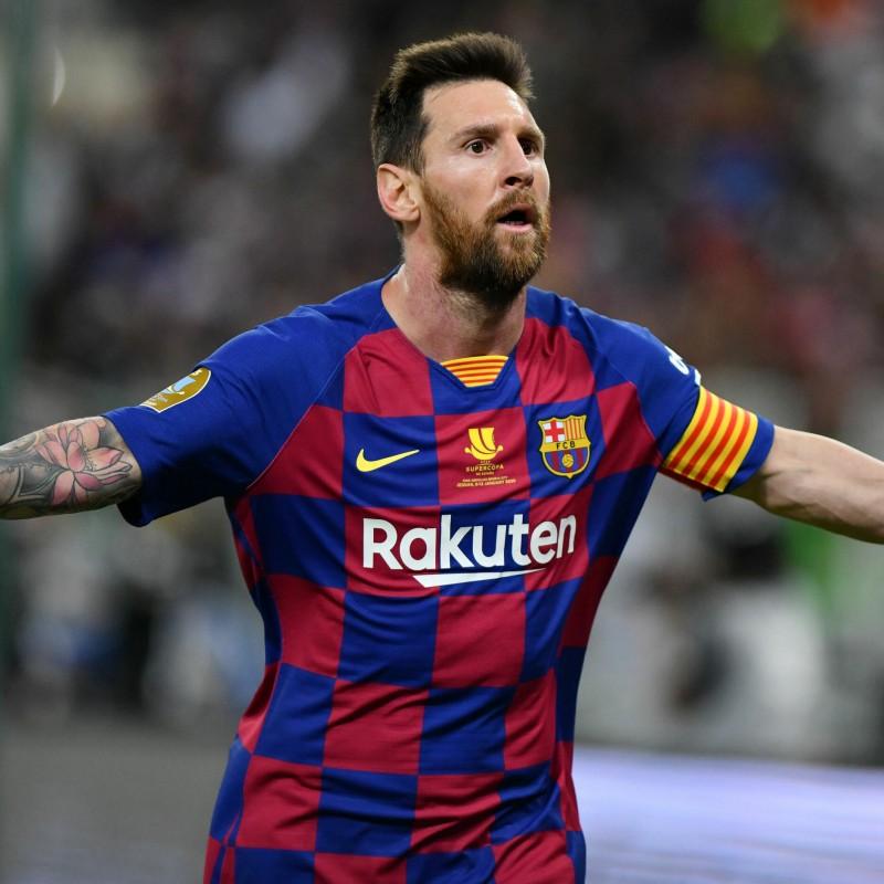 Messi's Barcelona Match-Issued Shirt, Supercopa de España 2020