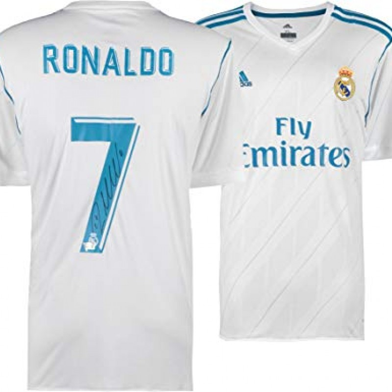 Cristiano Ronaldo Hand Signed Authentic Real Madrid FC Jersey