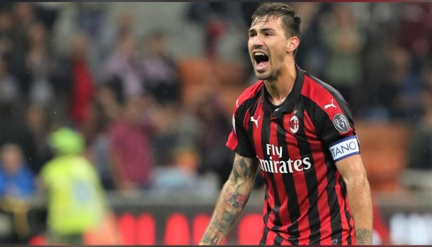 Romagnoli's Official Milan Shirt, 2018/19 - Signed