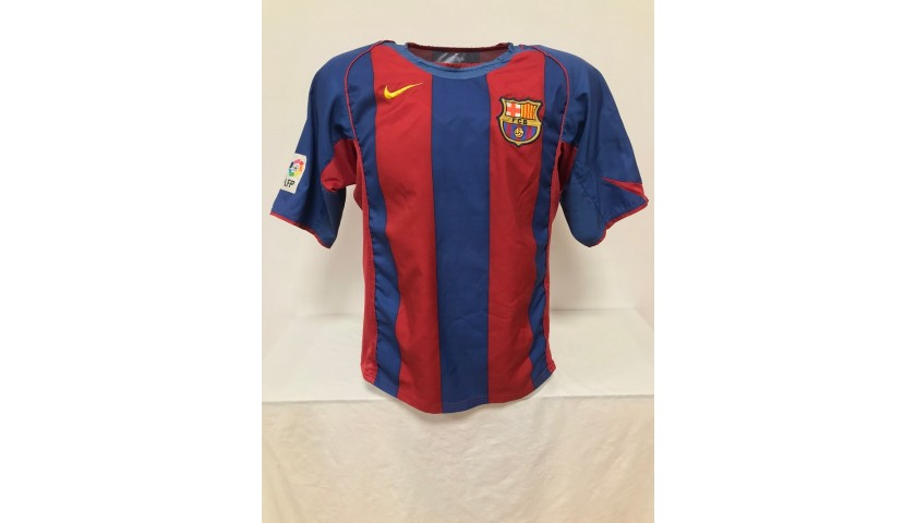 Deco's Official Barcelona Signed Shirt, 2004/2005