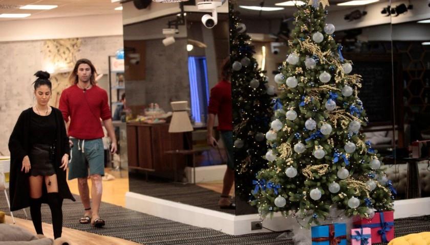 Albero Di Natale Grande.L Albero Di Natale Del Grande Fratello Vip Personalizzato Dai