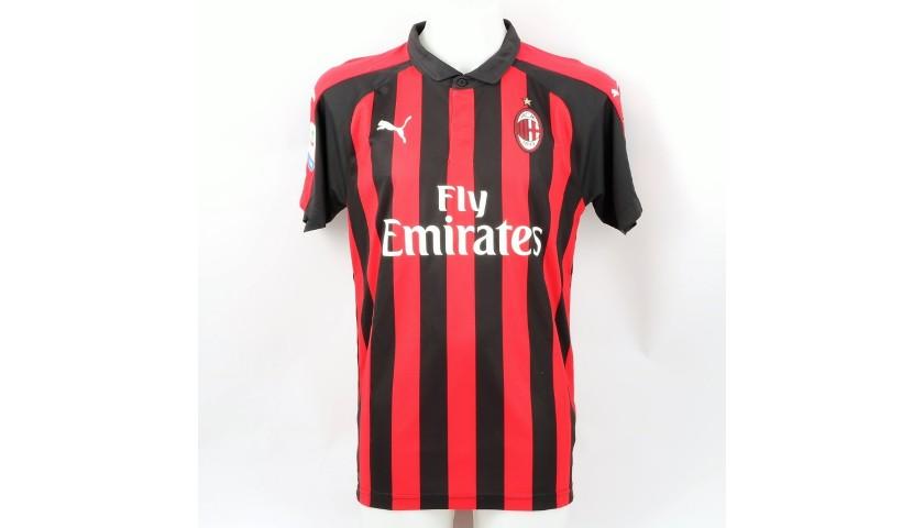 Piatek's Official Milan Shirt, 2018/19 - Signed