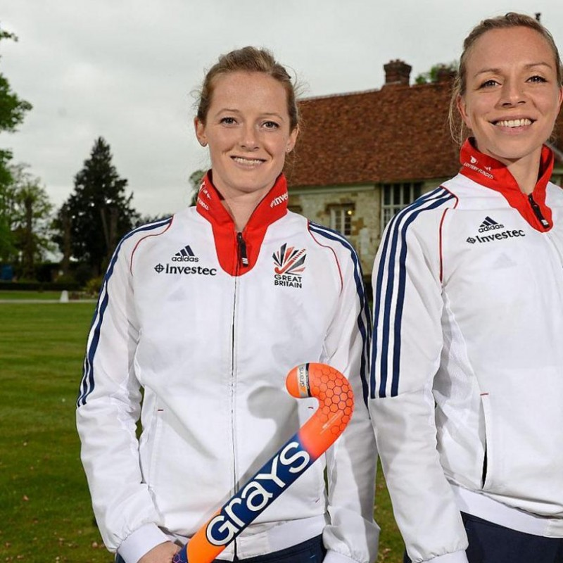 Hockey Shirt Signed by Olympic Gold Winners Kate & Helen Richardson Walsh