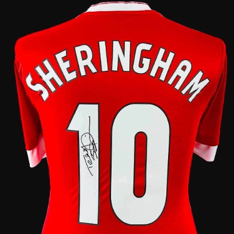 Teddy Sheringham Signed Manchester United Shirt - Number 10