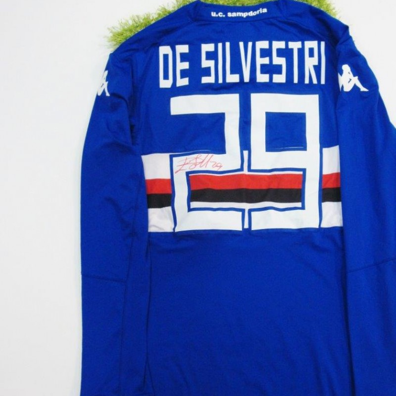 De Silvestri Sampdoria match worn/issued shirt 2014/2015 - signed