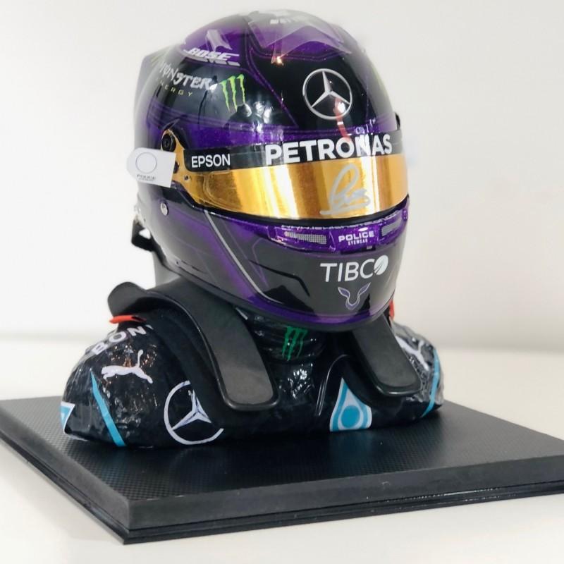 Lewis Hamilton Signed Scale Helmet 2020