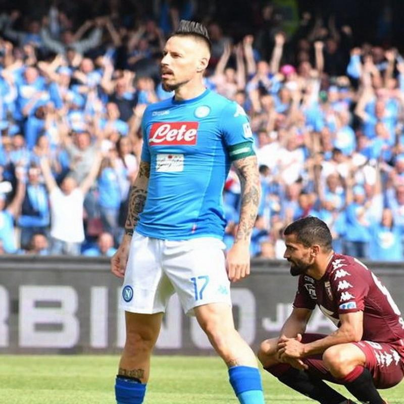Hamsik's Match Issued Signed Shirt, Napoli-Torino 2018
