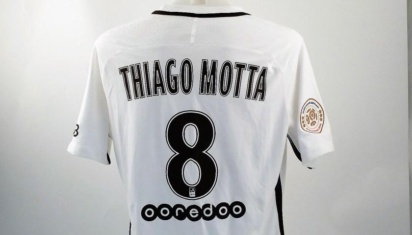 Thiago Motta Match Worn Shirt, Ligue 1 2016/17 - UNWASHED