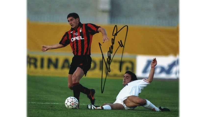 Photograph Signed by Footballer Daniele Massaro