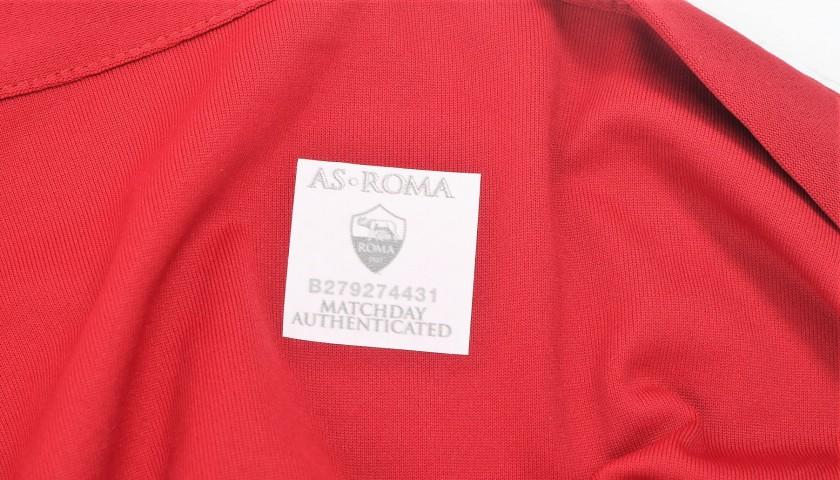 De Rossi's Match-Worn Roma-Cagliari Shirt, Special Sponsor Telethon