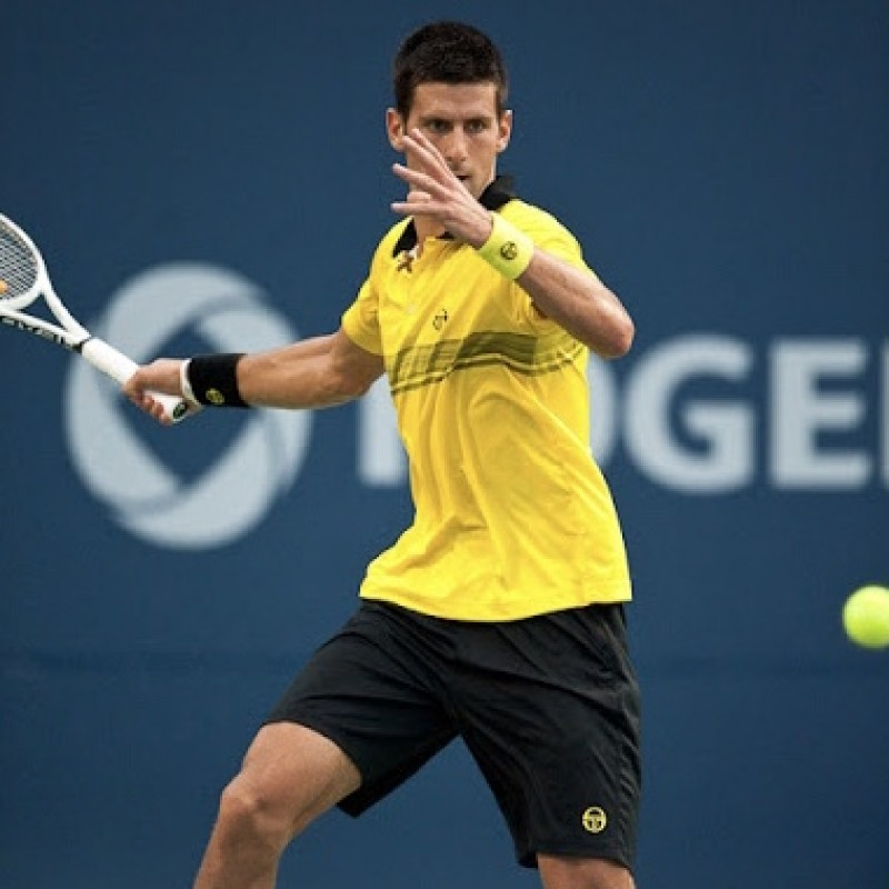 Djokovic Signed Match Shirt, Toronto 2010