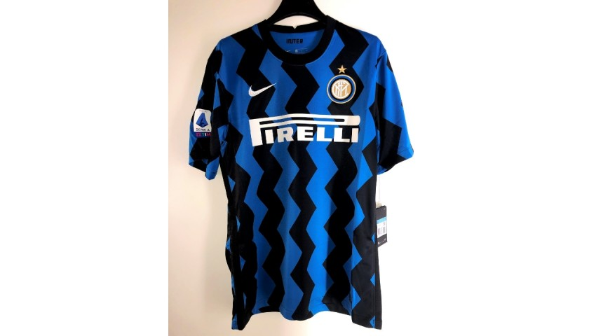 Lukaku's Official Inter Shirt, 2020/21 - Signed by the Squad