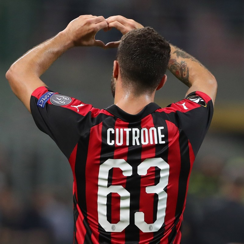 Cutrone's Official Milan Shirt, 2018/19 - Signed