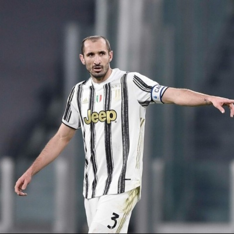 Chiellini's Juventus Signed Match Shirt, UCL 2020/21