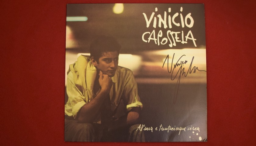 """Vinile autografato di Vinicio Capossela """"All'una e trentacinque circa"""""""
