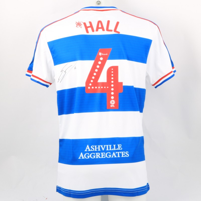 Hall's Queens Park Rangers Match-Issued Signed Poppy Shirt