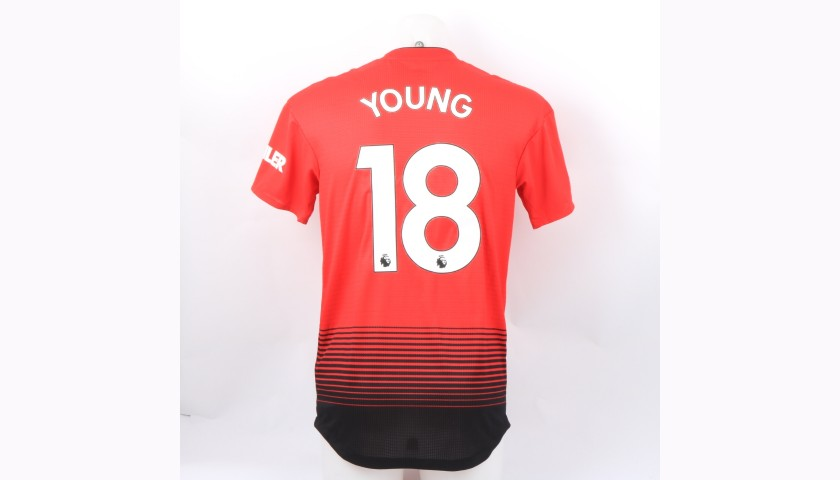 Young's Manchester United Match-Worn and Signed Poppy Shirt