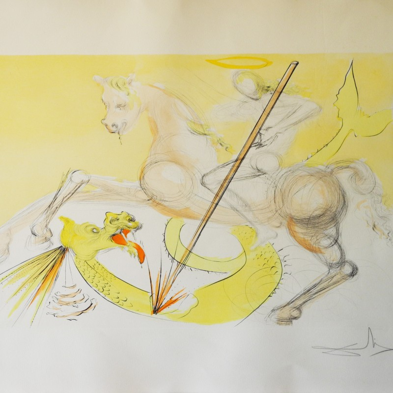 """""""San Giorgio e il Drago"""" di Salvador Dalì"""