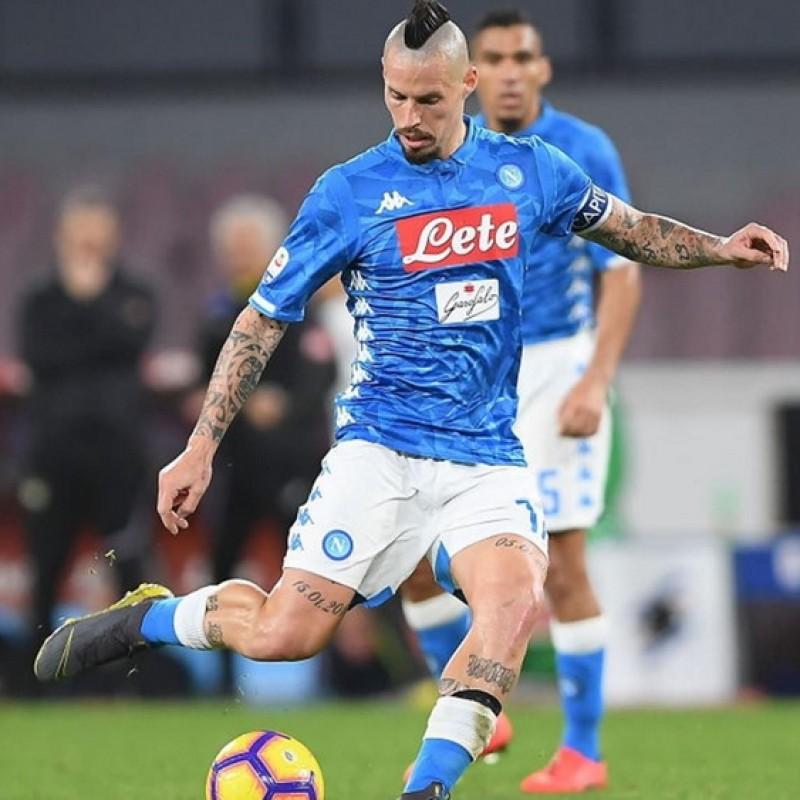 Hamsik's Napoli Worn and Signed Shirt, 2018/19