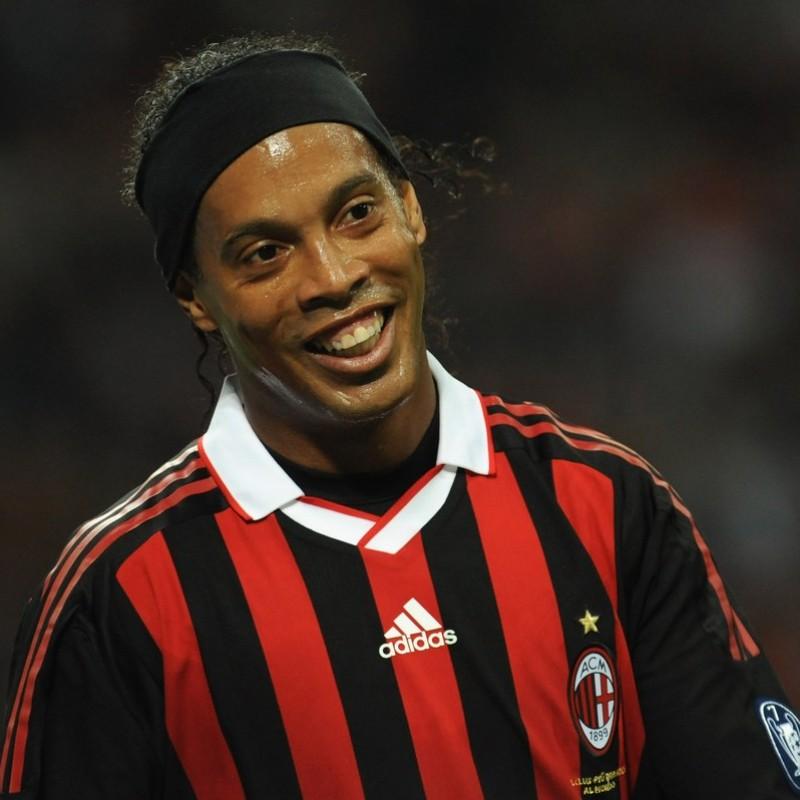 Ronaldinho's AC Milan Match-Issue/Worn Shirt, 2009/10 Season