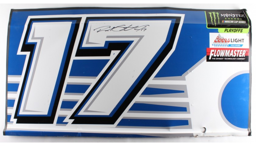 Ricky Stenhouse Jr. Signed Race-Used Fastenal #17 Full Door Sheet Metal
