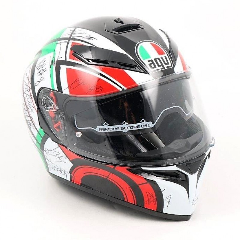 AGV Helmet Signed by Moto GP, Moto 2 and Moto 3 Drivers