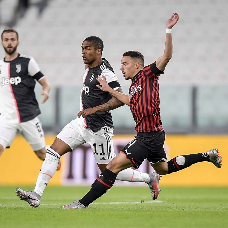 """Bennacer's Worn and Signed Shirt, Juventus-Milan - """"Andrà Tutto Bene"""""""
