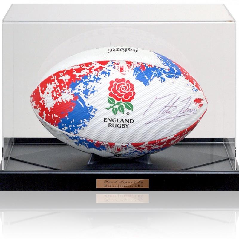 Palla da Rugby autografata da Martin Johnson