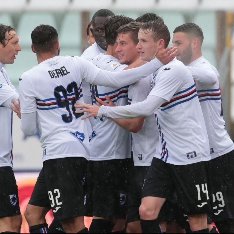 Vieira's Worn Shirt, Parma-Sampdoria - #Blucrociati