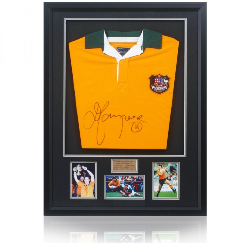 David Campese Hand Signed Wallabies Jersey