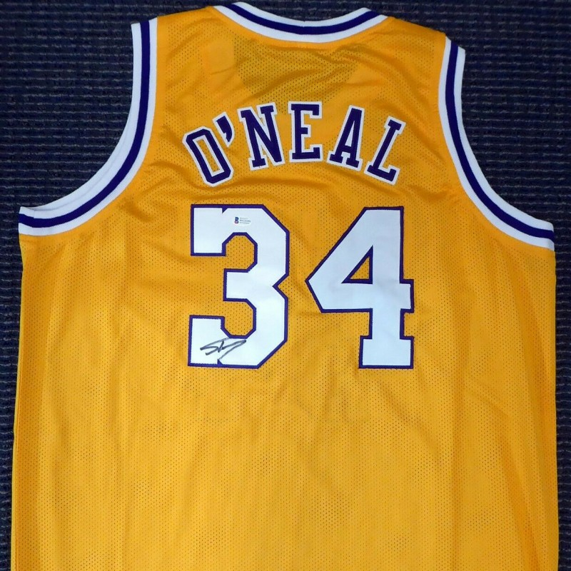 Shaquille O'Neal Signed Gold Los Angeles Jersey