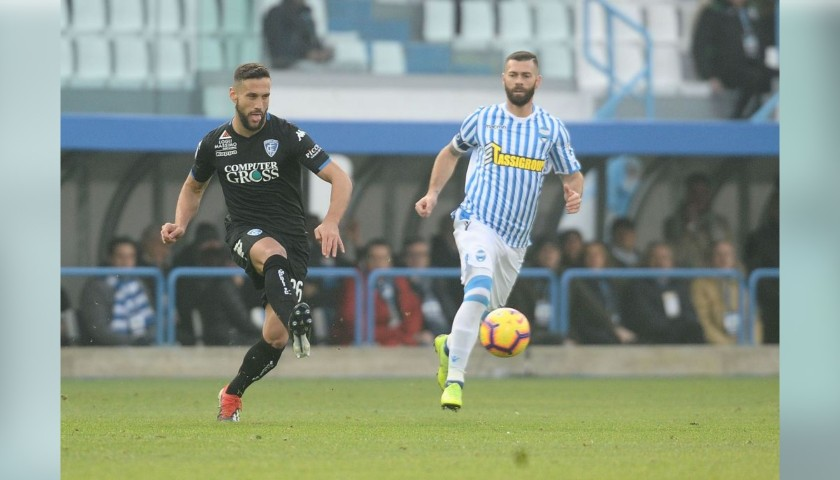 Antenucci's Worn Shirt with Special UNICEF Patch, Spal-Empoli