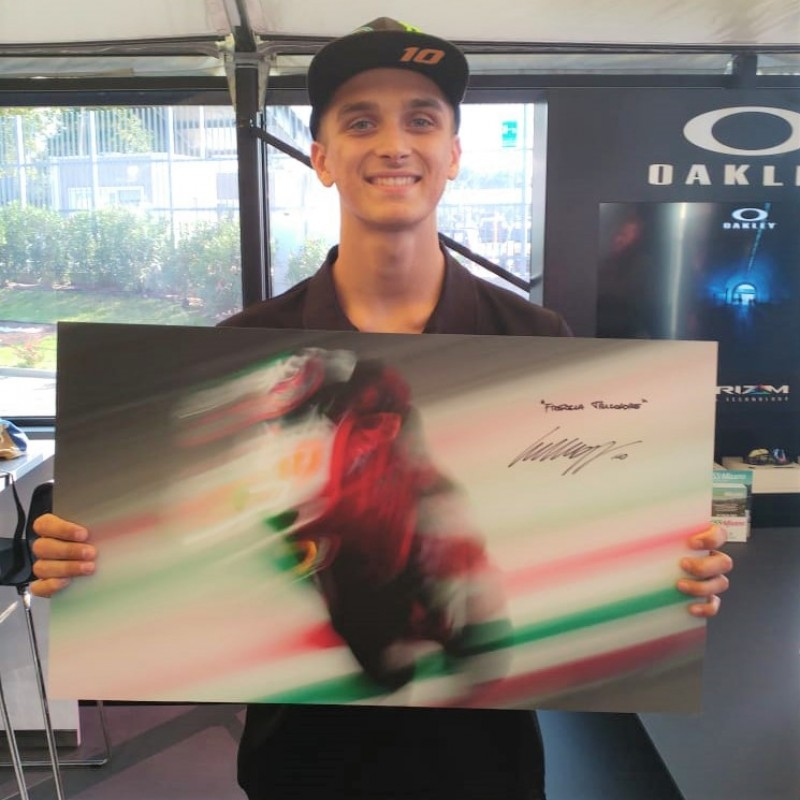 Luca Marini Photograph and Worn Race Boots - Signed