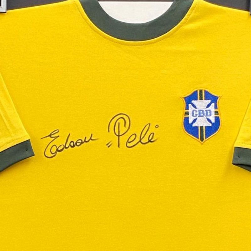 Pelé Signed Replica Shirt