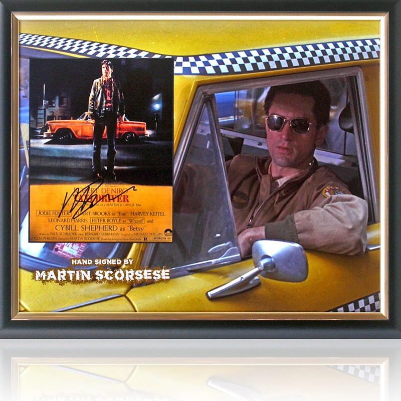 Martin Scorsese 'Taxi Driver' Hand Signed Presentation