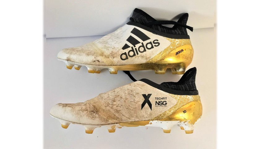 Felipe Anderson's Worn Adidas Boots, 2016/17