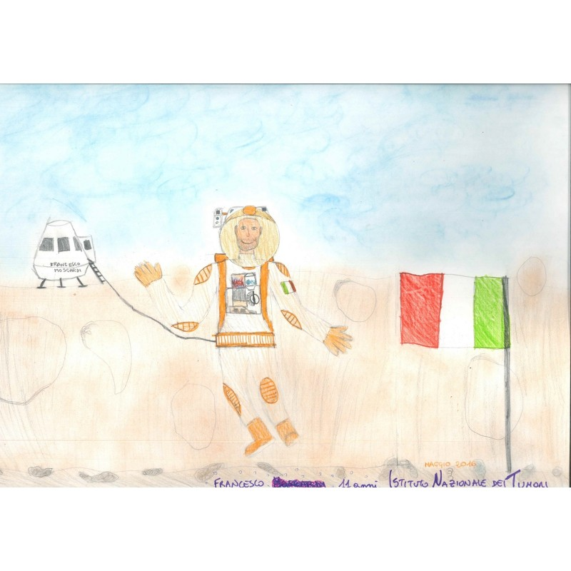 """Astronaut on Mars"" - Children's Artwork"