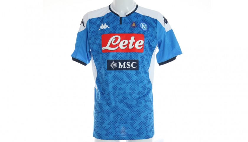 Koulibaly's Offical Napoli Shirt - Signed by the Squad