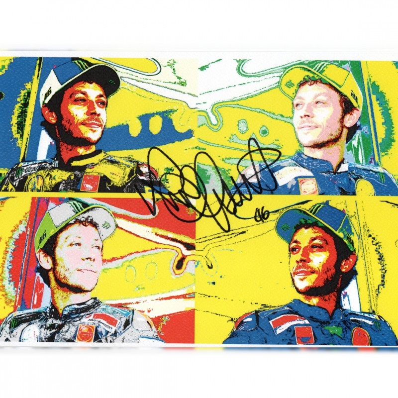 Valentino Rossi - Signed Pop Artwork by Gabriele Salvatore