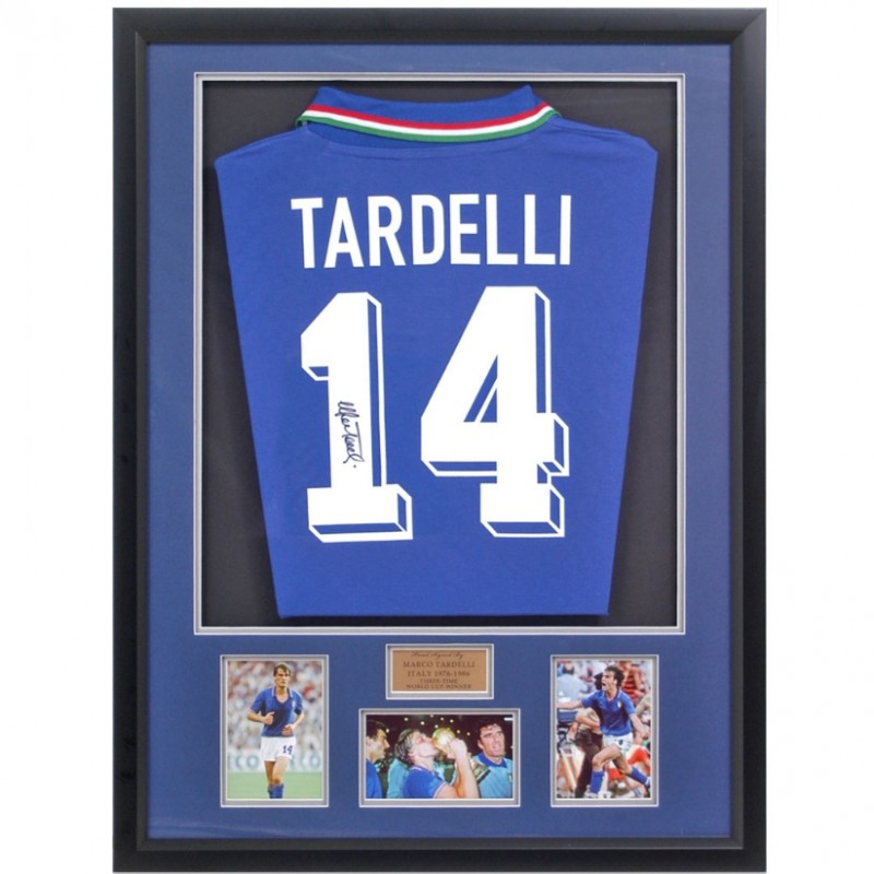 Marco Tardelli Hand-Signed Italian Football Shirt Presentation