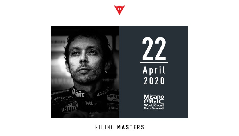 Dainese gets you on track with Valentino Rossi