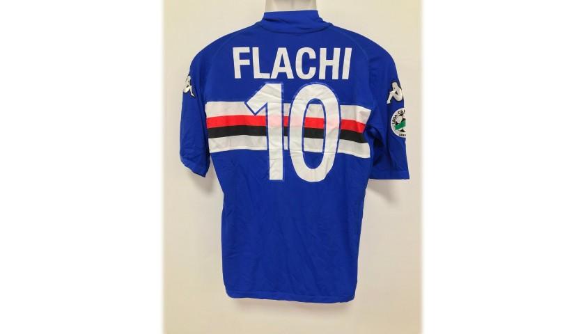 Flachi's Sampdoria Match-Issue/Worn Shirt, 2005/06