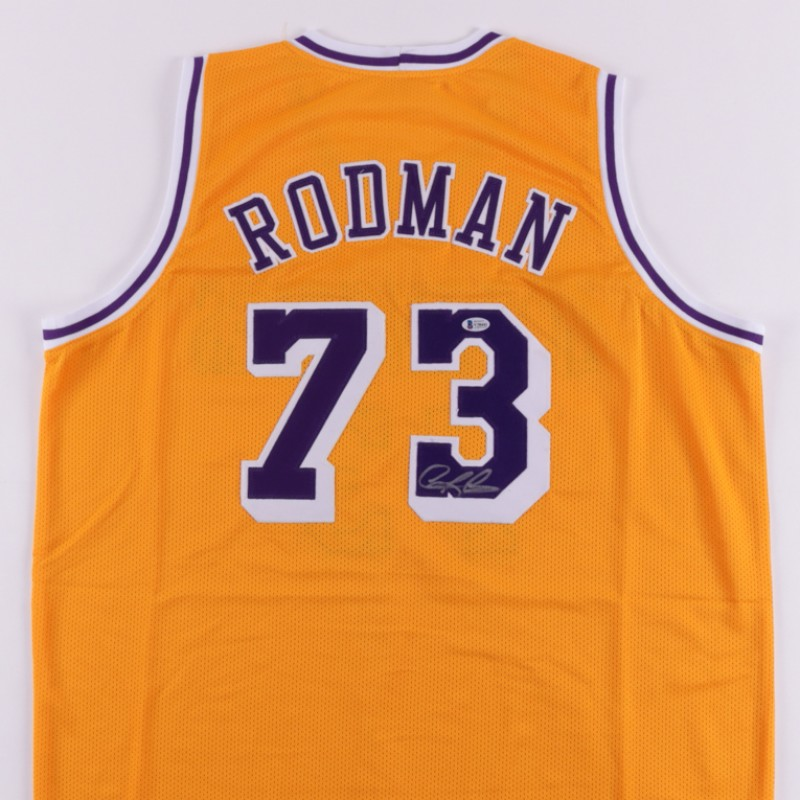 Dennis Rodman Signed Lakers Jersey